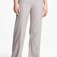 Eileen Fisher Wide Leg Linen Pants (Petite)
