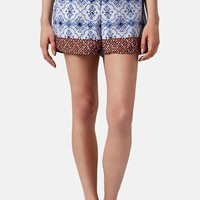Topshop Beaded Tile Shorts