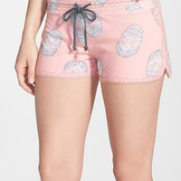 PJ Salvage 'Girly Skull' Print Knit Shorts