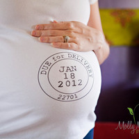 $32.00 Due Date maternity shirt by culpepergeneral on Etsy