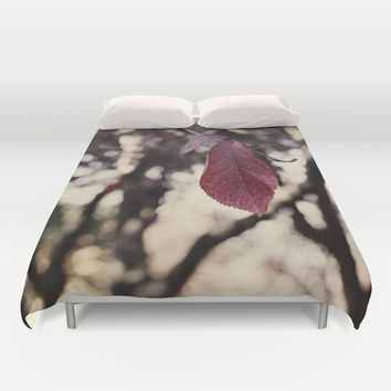 autumn leaf  Duvet Cover by VanessaGF