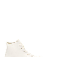 Converse X Maison Martin Margiela White And Navy Painted High-top Sneakers