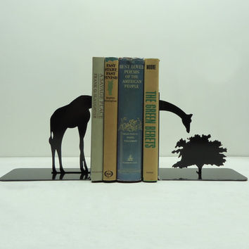 Giraffe Bookends  Free USA Shipping by KnobCreekMetalArts on Etsy