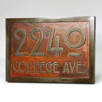 Stickley Address Plaque Home Numbers Bungalow Sign by AtlasSigns