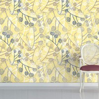 Ghost Leaves - Lime Yellow - Rachael Taylor - Brand - Wallpapers