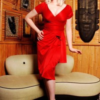 Ava Dress in Red by Pinup Couture - Dresses - Clothing | Pinup Girl Clothing