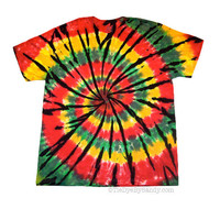Rasta Spiral Tie Dye Shirt by TieDyeBySandy on Etsy
