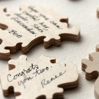 Wedding Puzzle Guest Book WOOD A guest book by BellaPuzzlesToo