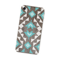 Geometric Wood Iphone Skin 4S Gadget Decal for Iphone by fieldtrip
