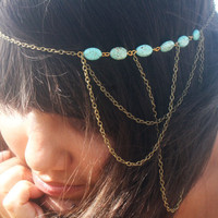 Chain Headband Headpiece Bohemian Hipster Boho by FunnyPeopleCo