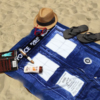 ThinkGeek :: Doctor Who TARDIS Beach Towel