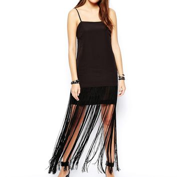BCBGeneration Dress with Fringing