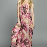 Multi Longer Lengths Dress - Strapless Maxi Dress with Cascading | UsTrendy