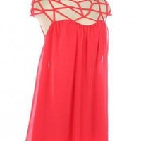 AMAZING CHIFFON TRENDY CAGE DRESS-Casual Dresses-casual dresses for juniors,casual dresses,comfort dress,casual elegant dress,designer dresses