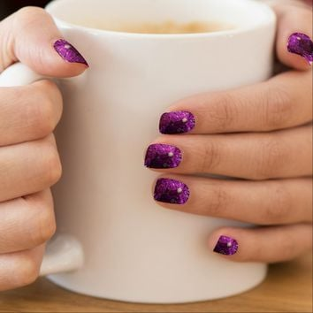 Purple Ice Abstract Minx Nail Art