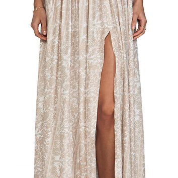 NOVELLA ROYALE Strange Melody Skirt in Beige