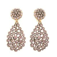 Crystal pavé teardrop earrings
