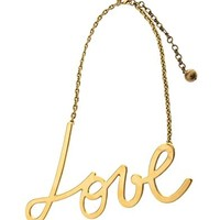Iconic Love gold-tone necklace