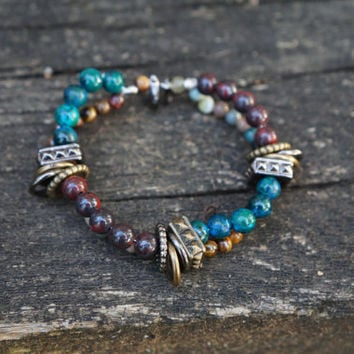 Boho Multistrand Beaded Bracelet