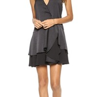 Tiered Skirt Wrap Dress