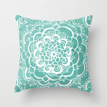 Delicate Throw Pillow by Tangerine-Tane