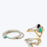 Boho Festival Stacking Ring Set