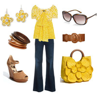 Yellow Spring Casual - Polyvore