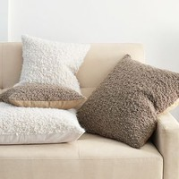 Alpaca Textured Pillow Cover | west elm