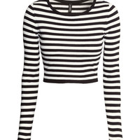H&M - Short Sweater - Black - Ladies