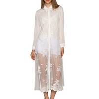 See The Light Long Lace Shirt