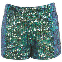 Mermaid Sequin Shorts - New In This Week  - New In  - Topshop USA