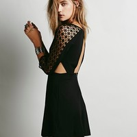 Free People Womens Life in the Fast Lane Cutout Dress - Black,