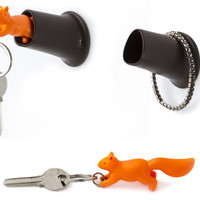 SQUIRREL KEY RING & HOLDER