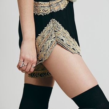 Jen s Pirate Booty for Free People Womens Tango Embroidered Short - Black,