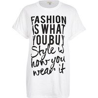 White fashion is what you buy t-shirt - print t-shirts / vests - t shirts / vests / sweats - women