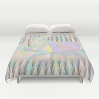 Deer Forest Duvet Cover by dogooder