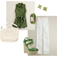 green j crew tunic - Polyvore