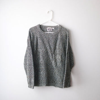 Vintage Brown & Grey Pocket Sweater by Pasta - S/M