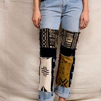 Urban Renewal Mud Cloth Patchwork Jean - Urban Outfitters