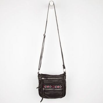 T-Shirt & Jeans Ethnic Tab Crossbody Bag Black One Size For Women 24210710001