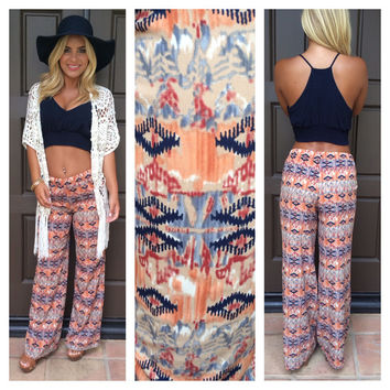 Loosen Up Printed Pants