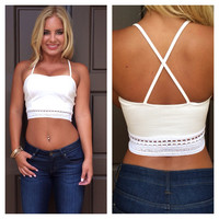 New Wave Crop Tank - IVORY