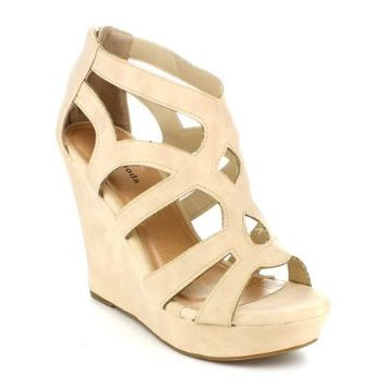 Top Moda Women's Ella-15 Wedge Sandals