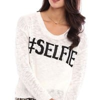 Cropped Selfie Sweater with Long Sleeves