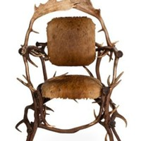 One Kings Lane - Kelly Wearstler: California Coastal Living - Rustic Antler Chair III