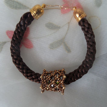 Hand made silky braided bracelet