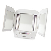Jerdon 5X Lighted Tri-Fold Makeup Vanity Mirror
