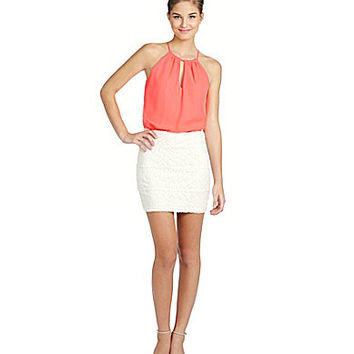 B. Darlin Spaghetti Halter Twofer Dress | Dillards.com