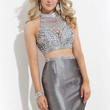 Stunning two piece shown in Platinum