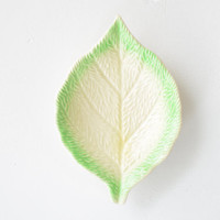 old leaf shaped dish